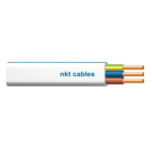 Przewód NKT instal plus YDYp 3x2,5 żo biały 450/750 100m
