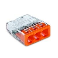 Szybkozłączka mini Wago 3x0,5-2,5mm2 100szt
