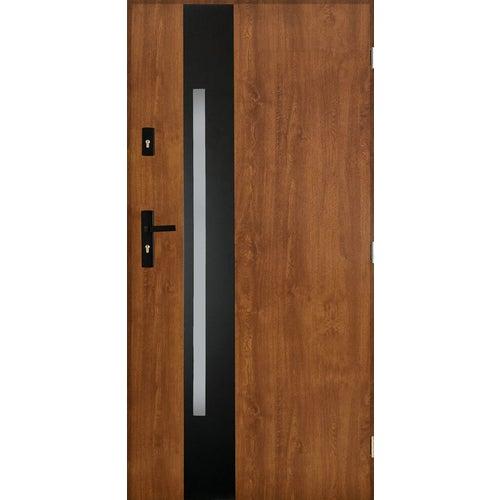 Drzwi zewnętrzne Kraków 2 prawe 90 cm złoty dąb