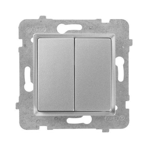 Polmark Rosa srebrny metalik łącznik podwójny