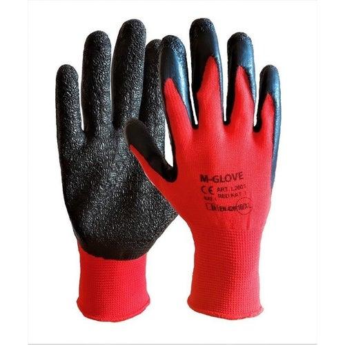Rękawice poliestrowe poktyte gumą RTELA C, rozmiar 9 (L)