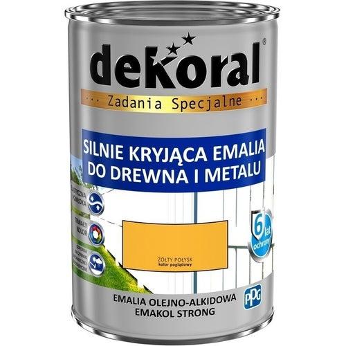 Emalia olejno-alkidowa Dekoral Emakol Strong żółty 0,9l