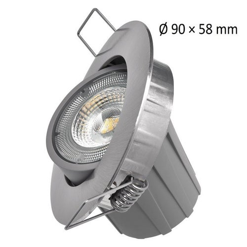 Oczko sufitowe LED 8W 650lm 4000K IP20 szczotkowany nikiel