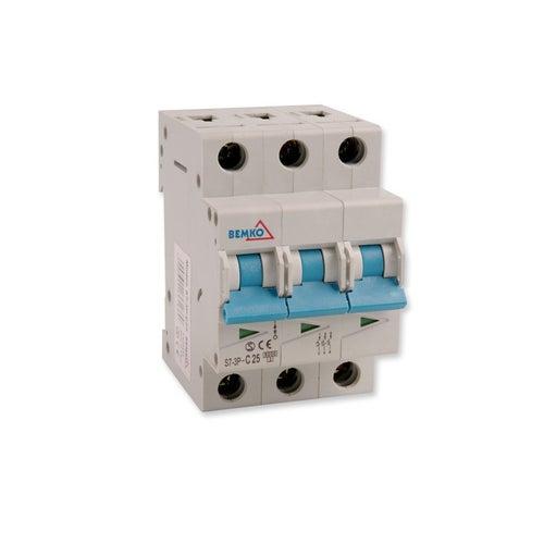 Wyłącznik nadprądowy 3P C 25A A00-S7-3P-C25 Bemko