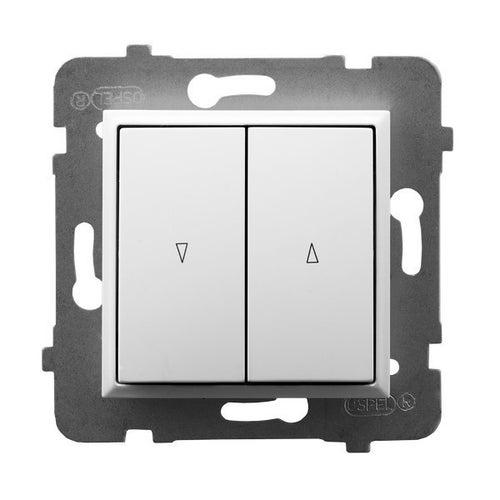 Ospel Aria biały przycisk żaluzjowy