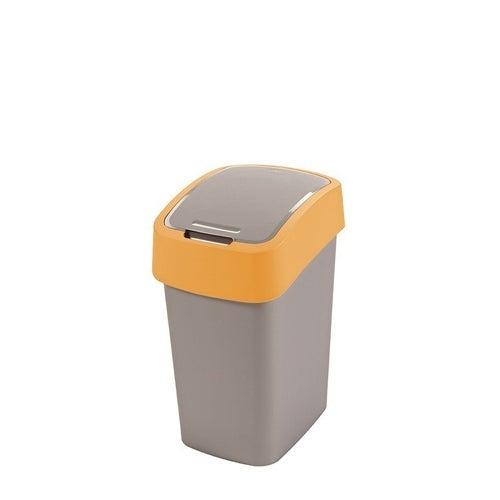 Kosz na śmieci FlIP BIN 25 l srebrny/pomarańczowy