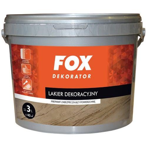 Lakier dekoracyjny Fox satyna 3l