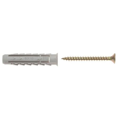 Kołek rozporowy fi 10 z wkrętem 6.0x80 mm (50 szt.)