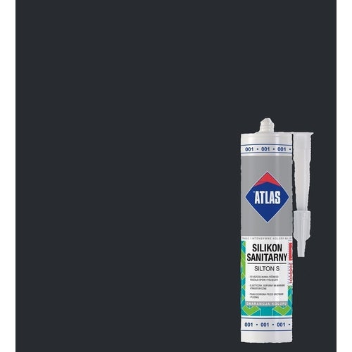 Silikon sanitarny Atlas 037 grafitowy 280 ml