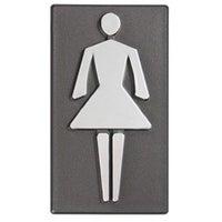 Znak informacyjny samoprzylepny WC PANI 4x8.7 cm