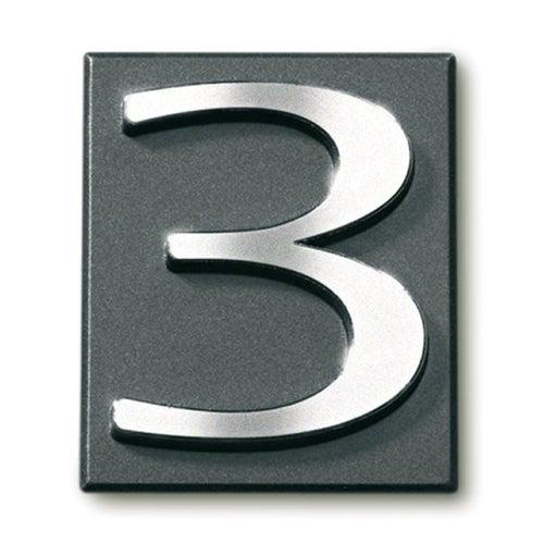 Cyfra 3 samoprzylepna grafit 4x4.7 cm