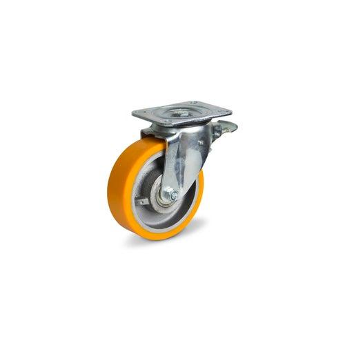 Zestaw jezdny skrętny 100 mm/200 kg z hamulcem