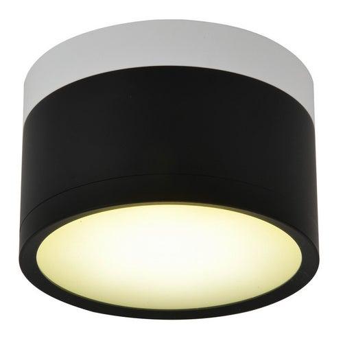 Oprawa tuba 9W LED 4000K czarny biały