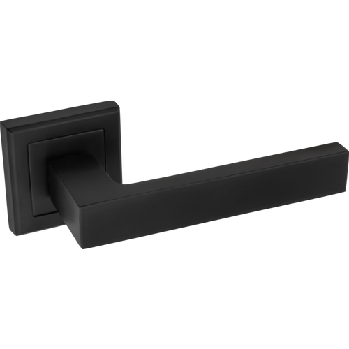 Klamka AMBCUBUS kwadr szyld czarny mat 17x6x11 cm