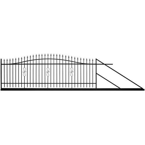 Brama przesuwna Volta czarna, 130-150x400 cm, prawa