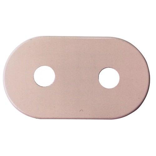 Rozeta maskująca płaska podwójna 16 mm biała