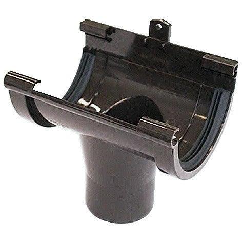 Lej spustowy centralny G125, brązowy PVC Scala Plastics
