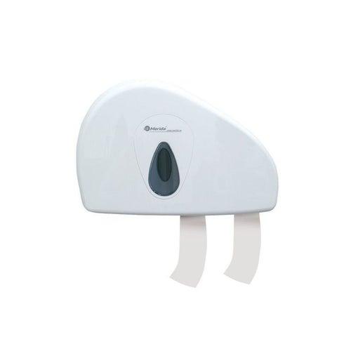 Pojemnik na papier toaletowy Merida Top Duo z uchwytem na resztkę rolki, okienko szare, BTS202