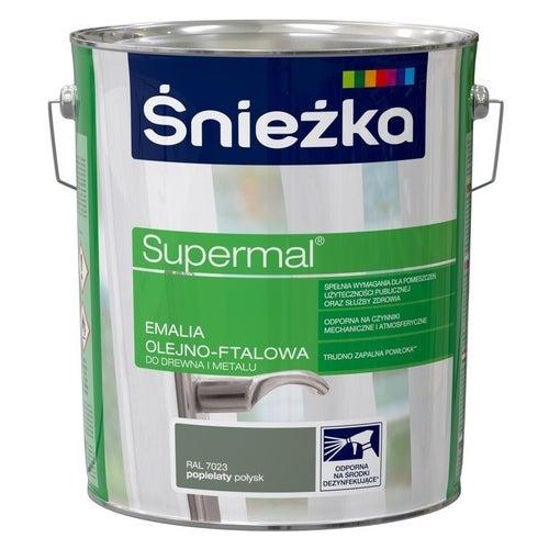 Emalia olejno-ftalowa Śnieżka Supermal popielaty połysk 10l