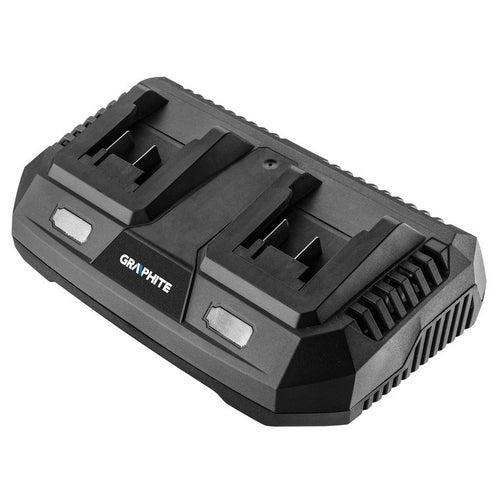 Ładowarka podwójna do akumulatorów Energy+ 58G085 Graphite