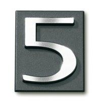 Cyfra 5 samoprzylepna grafit 4x4.7 cm