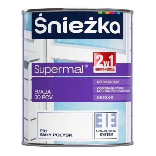 Emalia do PCV Śnieżka Supermal biały 0,75ll