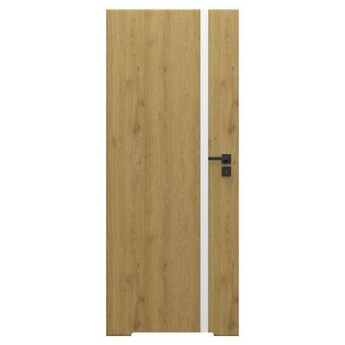 Skrzydło łazienkowe bezprzylgowe Loft 4A 70 cm lewe dąb naturalny