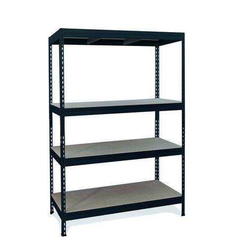 Regał magazynowy Rivet wym. 180x180x60 cm, 4 półki, 350 kg