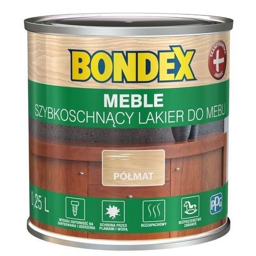 Lakier szybkoschnący Bondex Meble półmat 0,25l