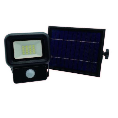 Naświetlacz LED SOLAR NCS 10W, 700lm, czujnik ruchu, panel solarny