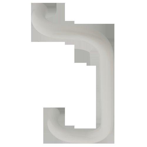 Pochwyt drzwiowy prostokątny dwustronny 300/30mm biały