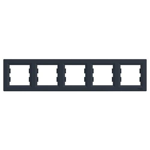 Schneider Asfora antracyt ramka pięciokrotna