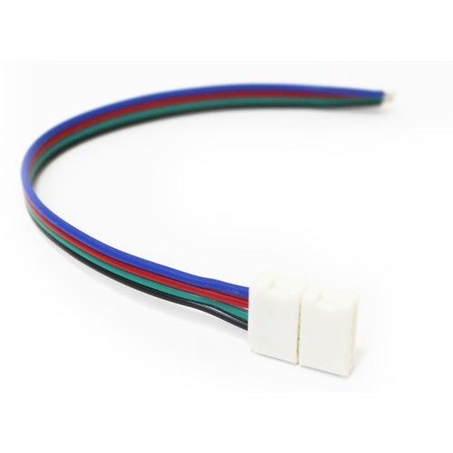 Złącze do taśm LED RGB 10mm zacisk-przewód