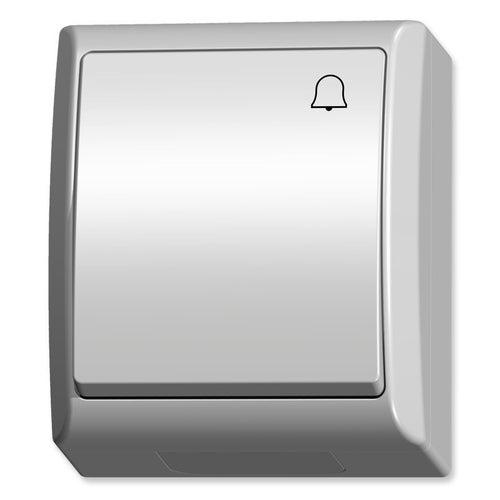 Ospel Fala biały przycisk dzwonka IP44