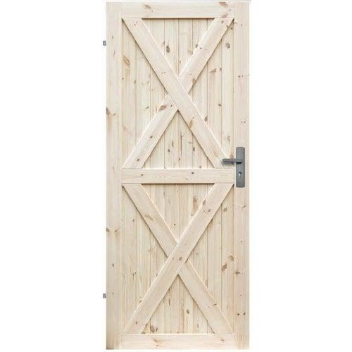 Skrzydło drzwiowe Loft XX pełne wymiary 90 lewe surowa sosona