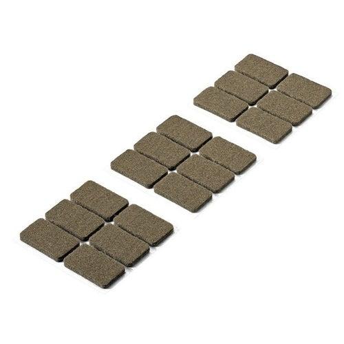 Podkładki filcowe samoprzylepne 36x22x4.5 mm 18 szt.