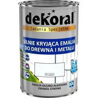 Emalia olejno-alkidowa Dekoral Emakol Strong biały 0,9l