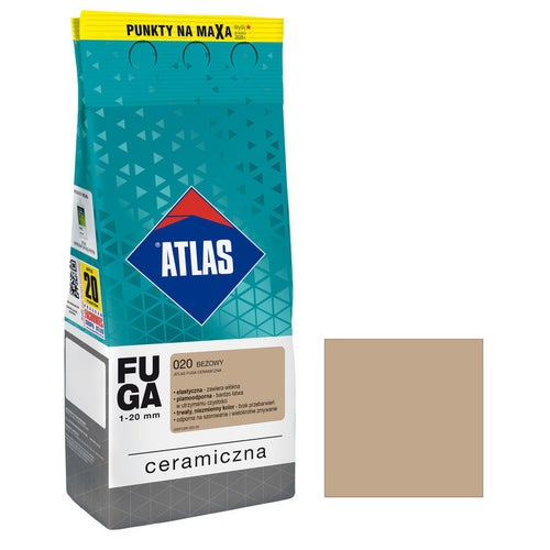 Fuga ceramiczna Atlas 020 beżowy 2kg