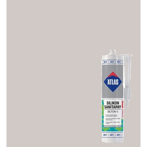 Silikon sanitarny Atlas 018 beż pastelowy 280 ml