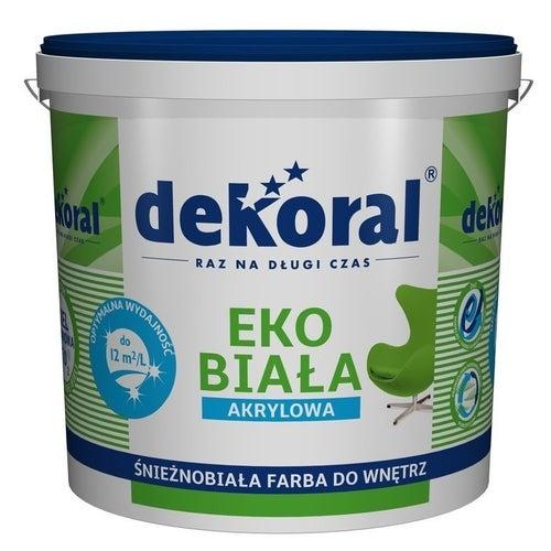 Farba Dekoral Eko biała 15l