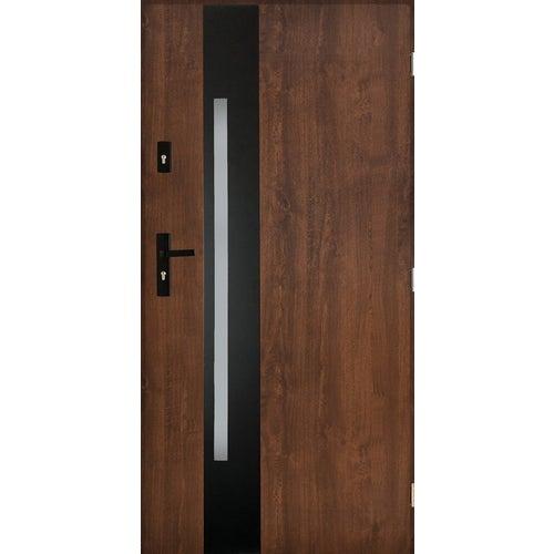 Drzwi zewnętrzne Kraków 2 prawe 90 cm orzech