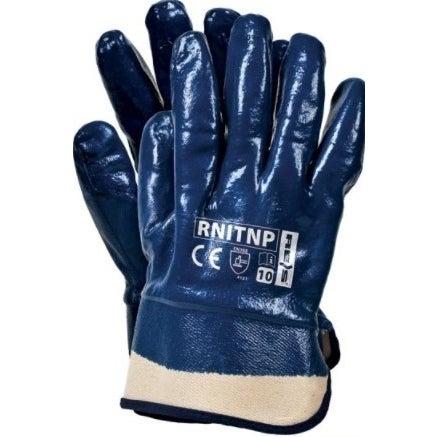 Rękawice z poliestru powlekane nitrylem RNITNP, rozm. 10 (XL)