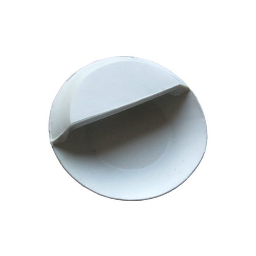 Korek syfonu umywalki biały