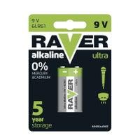 Bateria Raver LR61 9V 1szt