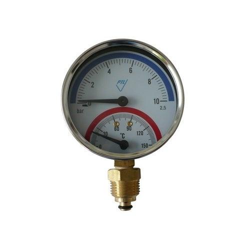 Termomanometr M80 0-10 bar, pionowy