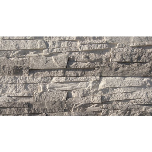 Kamień dekoracyjny Sidari szary, 38x10x 1.8 cm, opak. 0.45m2, gips