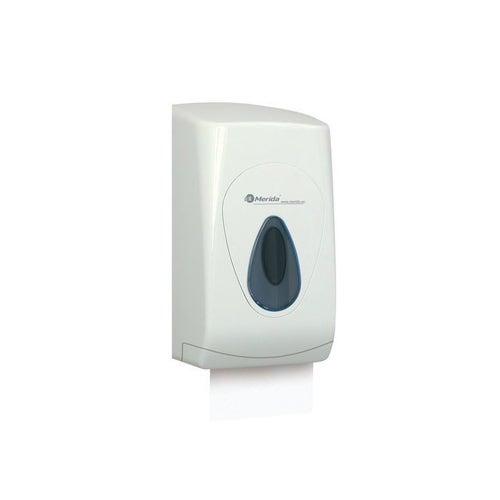 Pojemnik na papier toaletowy w listkach Merida Top z tworzywa ABS, okienko szare, BTS401