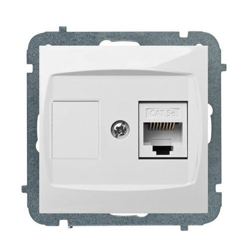 Elektroplast Carla biała gniazdo komputerowe 1xRJ45 kat 5