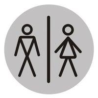Znak informaycjny WC PAN/PANI 75 mm