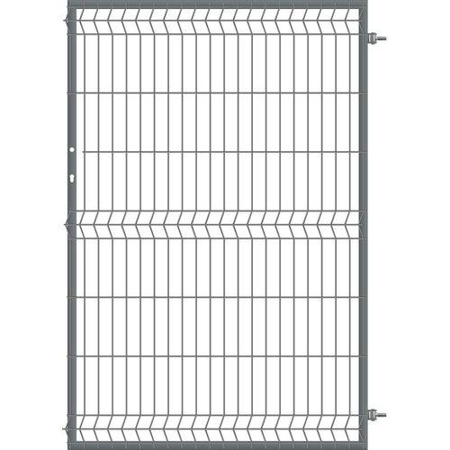 Furtka ogrodzeniowa panelowa antracyt, 150x100 cm, prawa